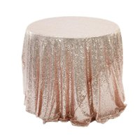 Gül altın / gümüş / altın / Champagne Yuvarlak Pullu Tablecloth Düğün Ziyafet Masa Örtüsü Noel Süsleri Banquet Kapaklar