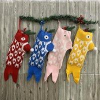 Navidad almacenaje sirena calcetines de Navidad de punto de punto bolsa de regalo de punto santa navidad árbol colgando calcetines de regalo calcetines de navidad bolso de regalo adornos de casa