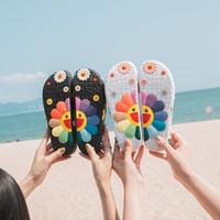 Mode Sternelemente mit Murakami Takashi Sonnenblume Hausschuhe Outdoor Beach Hausschuhe für Frauen Licht rutschfest verschleißfest y200624