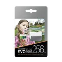 DHL 배송 32GB / 64GB / 128GB / 256GB 삼성 EVO 선택 마이크로 SD 카드 / 스마트 폰 SDXC 저장 카드 / TF 카드 / HD 카메라 메모리 카드 100MB / s