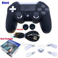 PS4 GamePad 용 2020 새로운 블루투스 무선 PC 비디오 게임 콘솔 Y0114 용 Gamepad 듀얼 진동 엘리트 게임 컨트롤러 조이스틱 Y0114