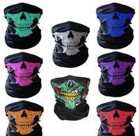 Cranio maschera di protezione di Halloween Skull Bandana casco della bici del fronte del collo Sciarpe Maschera Guanti involucri Paintball Sport Ciclismo fascia Sciarpa