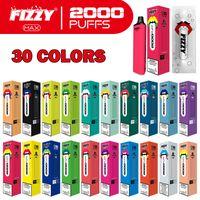 2021 Yeni Varış Orijinal Tek Kullanımlık Vape Kalem E Sigara Fizzy Max 2000 Puff E Çiğ Vape Ücretsiz Kargo
