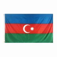 Aserbaidschan-Flagge Qualitäts-3x5 FT nationale Fahne 90x150cm Festival-Party-Geschenk 100D Polyester Indoor Outdoor Printed Flaggen und Banner