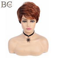 Perruques synthétiques Synthetic Cheveux Synthétiques Perruques Synthétiques avec Perruque Ombre Roots Side Bang pour Femmes Cheveux naturels