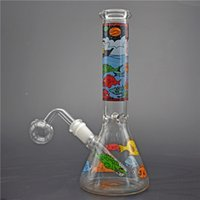 Top quality glass Beaker Bong Simple dab rig Bongs with Ice ...
