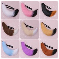 70cm Anime Simulation en peluche Big Tail Cosplay Comicon Loup mignon Long Tail Costume Accessoires mascarade Halloween Props