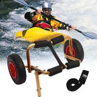 Kano Tramvay Çıkarılabilir Tekerlekler Sepeti Taşınabilir Hafif Katlanabilir Tekne Kayık Taşıyıcı Kano Dolly Tote Trolley Taşıma Römorku