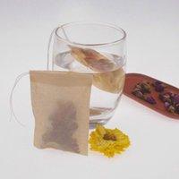 Toptan 60x 80mm Ahşap Hamuru Filtre Kağıt Tek Kullanımlık Çay Süzgeci Filtreler Çanta Eko Tek İpli İp Soka Kahve Çay Torbaları Hayır Ağartıcı