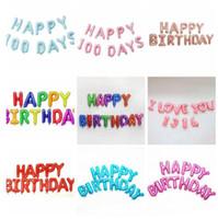 Balão de hélio feliz aniversário alfabeto balões conjunto bebê festa de aniversário decorativo balão aniversário decorações de casamento suprimentos ZYY597