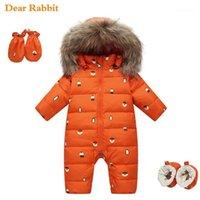 -30 درجة روسيا الشتاء ملابس الأطفال أسفل سترة ل طفلة ملابس الاطفال بذلة الصبي قميص معاطف رشاقته snowsuits1