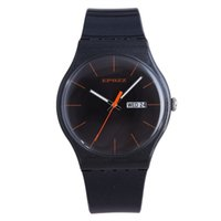 Epozz Light mince Simple Simple Pure Colorful Womes Montres Silicone Strap Soft Dames Casual Black Female Horloge Relogios Feminin 201118
