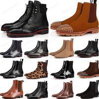 Venta de 2021 Estilo Bottoms Rojos Sneaker Men Boot Spikes Suede Cuero Rojo Sole Hombres Zapatos Super Perfect Melon Motorcycle Boot for Men