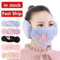 5 colors 2 in 1 Face Masks Cartoon Cat Designer Windproof Ear Warmer Winter Mask Outdoor Cycling Protective Face Masks FY9227