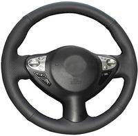 DIY Capa do volante para 2011-2017 Nissan Juke 2009-2014 Maxima 2016-2019 Sentra 2009 2010 FX35 FX50 Acessórios Interiores