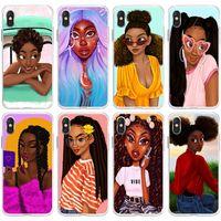 Black Girl Moda Iphone 12 Shell cellulare 11 Moblie Casi Pro Max per Iphone 12 Mini Pro Max 11 Cover Girl Phone