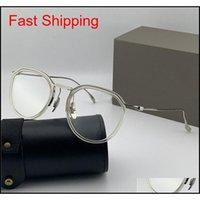 Moda Tasarım Optik Gözlük 131 Yuvarlak Retro K Altın Çerçeve Vintage Basit Stil Şeffaf Gözlük Üst QU QYLFVJ Nana_Shop