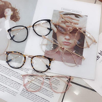 1 pz Retro Anti Blue Ray Computer Computer Glasses Women Round Eye Glass Blue Blue Light Blocking Moda Eyewear Cornici ottiche A96568
