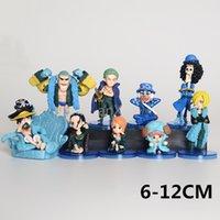 9 pcs Uma peça Figura Brinquedos Luffy Zoro Nami Usopp Sanji Chopper Robin Franky Brook PVC Ação Anime 7pcs / Set Figura 9PCS / Set Toy 201202