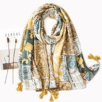 الأوشحة الأزهار طقطات النساء شال كبير التفاف تصميم الإناث الحجاب الخريف دافئ سرق [6730] 1