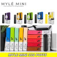 Myle Mini dispositif à usage unique Vape Pen vapeur Cosses Chariots de kits de démarrage pré-rempli Portable Vaporiser un Lot Livraison rapide