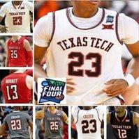 TTU Texas Tech College Basketball Jersey 21 Khavon Moore 23 Jarrett Culver 24 Avery Benson 25 Davide Moretti Homens Mulheres Juventude personalizado costurado