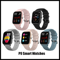 teléfono inteligente reloj al por menor P9 impermeable rastreador de ejercicios Deporte Para IOS Android funciones de la presión SmartWatch monitor de frecuencia cardiaca de sangre
