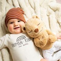 GRH INS Australia Baby Rompers Unisex Pure Cotton Letters Jumpsuit Infants Summer Spring Oneises Newborn Climb Clothes Bodysuits