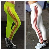 Donne Softball Leggings Collant Signore Sport Sport Sweat Pants Spandex Leggings Neon Softball Stitch Yoga Fitness Atletico Pantaloni da corsa Athletic E122307