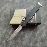 "Hot ofertas de Micro Ha-VI automática Faca (4.6"" Cetim) de ação única Tactical Knives Survival bolso auto faca 6061-T6 alça EDC Tools"