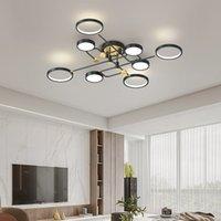 Teste multiple Lampadina a soffitto a LED per soggiorno Camera da letto Lustre de Plafon Luminaire Plafonnier Nordic Loft Lampada da soffitto LED