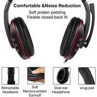 A buon mercato Auricolare di gioco stereo 2020 per Xbox One PS4 PC 3,5 mm Cuffie con cablata con cablata con cuffia per il gioco del volume del microfono Gioco di controllo del volume Auricolare