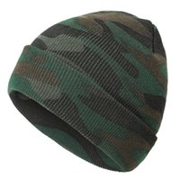 Mode Camouflage Unisex Strickmütze Warmhalten im Freien beiläufige Gezeiten Hip Hop-Herbst-Winter-Hut-Soft-Cap Bonnet