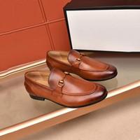 Top Quality Marca Formal Dress Shoes para Homens Gentidos Sapatos De Couro Genuíno Clássico Toe Homens Negócios Oxfords SS Sapato de Couro