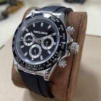 2021 Montre de Luxe U1 Fabrik Qualität Quarzuhr für Herrenuhren Bunte Uhr Gummi Strap Sport Vk Chronograph Wasserdichte Armbanduhr