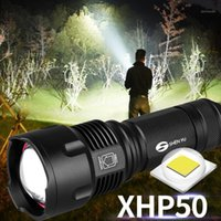 Flashlights Torches Powerful Tactical LED CREE XHP50 T6 L2 Zoom Waterproof Torch For 26650 Rechargeable Or Battery1