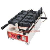 Kostenloser Versand Kosten Electric 110V 220V Commercial Antihaft-Beschichtung Japanisches Eis Taiyaki Maker Maschine1