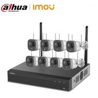 Sistemas Dahua Imou 8CH 2MP Kits NVR Sistema de Segurança Sem Fio Câmeras H.265 8 Pcs Água Ao Ar Livre Wifi IP Câmera IP Vigilância Video Set1