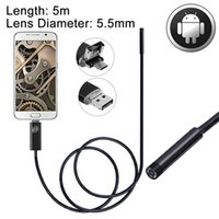 2 في 1 مايكرو USB USB التنظير للماء كاميرا الأفعى التفتيش أنبوب مع 6 LED لالأحدث OTG الروبوت الهاتف طول 5M عدسة القطر 55MM