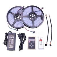 6803 5050 SMD Traumfarbe magische LED-Streifen RGB 20m 30m 10m 5m wasserdichtes IP67 133 Veränderung + IC6803 RF Controller + Netzteil