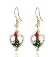 Vente chaude boucles d'oreilles de bonhomme de neige de Noël en Europe et en Amérique boucles d'oreilles pendantes d'arbre de Noël ornements GD745