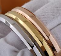 편지 인쇄 팔찌 새로운 패션 팔찌 고품질 티타늄 철강 팔찌 우아한 모양 타원형 팔찌 쥬얼리 공급