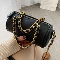 Small PU Leather Chain Crossbody Bags Fashion Designer Shoul...