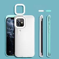 2021 최신 제품 Selfie 지능형 LED 링 플래시 채우기 가벼운 전화 케이스 아이폰 11 12 Pro