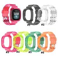 Siames chiaro banda di caso per Fitbit Versa Sostituzione 3 trasparente braccialetto per Fitbit senso Versa 3 Cinturino di plastica Loop cinturino Accessori