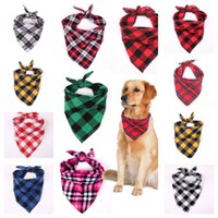 12 colores niños fantasía mascota perro gato triángulo baberos tartán búfalo a cuadros pañuelo cuello mascotas cuello bufanda pañuelo pecho cachorro burbuja ropa E102801