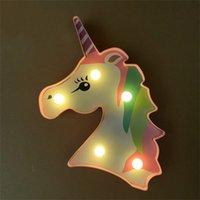 LED ملصقات يونيكورن نحت مصباح الأطفال غرف الأطفال مصابيح الزفاف المركزية ديكورات أضواء عزر الساخن بيع 3 8xc F2