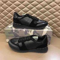 Super Schuhe Herren Sneaker Star Nolided Casual Schuhe Leder Camouflage Studded Schuh Combo Stars Rock Nieten Runner Lace-up Sneakers Schuhe