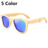 Hombres retro de alta calidad Gafas de sol Mujeres polarizadas Gafas de sol Bambú Hecho a mano Gafas de sol Gafas de sol de madera Gafas de madera Oculos de Sol