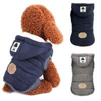 Chaqueta de abrigo de perros de algodón caliente de invierno para perros pequeños Ropa de cachorro Yorkshire Shih Tzu Suéter Perros Mascotas Ropa Manteau Chien 201225